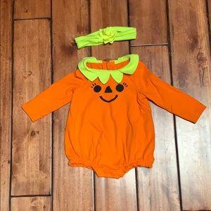 Pumpkin jack-o'-lantern one day with headband